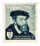 Weinlese-Belgien-Briefmarke Lizenzfreie Stockfotos