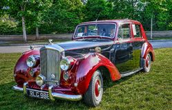 Weinlese Bentley stockfoto