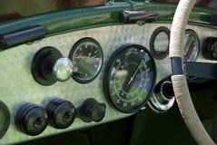 Weinlese Bentley Armaturenbrett Stockbild