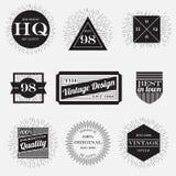 Weinlese beschriftet Sammlung, Designschablone Stockfotos