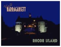 Weinlese-Besuch Narragansett, Rhode Island Poster lizenzfreies stockfoto