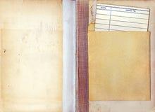 Weinlese-Bibliotheks-Buch-Abgabefrist-Karte Stockfotografie