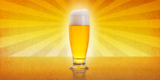 Weinlese-Bier stockfoto