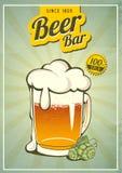 Weinlese-Bier-Plakat vektor abbildung