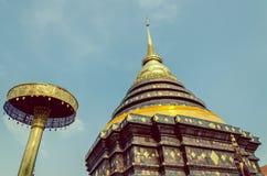 Weinlese-Bild von Pra das Lampang Luang, der alte Buddhist Stockbild