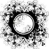 Weinlese blüht grunge Emblem vektor abbildung