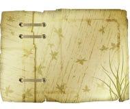 Weinlese-Blatt-Muster-Papier Stockbild