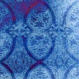 Weinlese-blauer Damast spornte Beschaffenheit an lizenzfreie abbildung