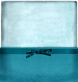Weinlese-blaues Umschlag-Set Lizenzfreie Stockfotos