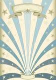 Weinlese-Blauhintergrund Stockbild