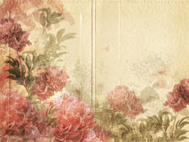 Weinlese-Blumen-Hintergrund Stockbild