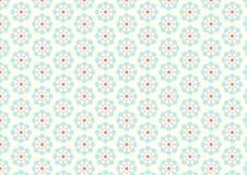 Weinlese-Blumen-Muster auf Pastellhintergrund Lizenzfreies Stockfoto