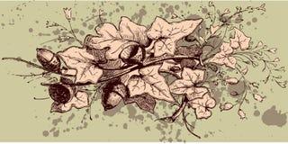 Weinlese-Blumenauslegung Stockbild