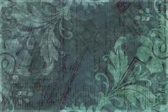 Weinlese-Blumeneinklebebuch-Hintergrund Stockfotografie