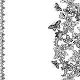 Weinlese-Blumeneinklebebuch-Hintergrund Stockfoto