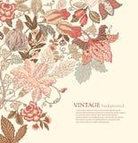 Weinlese-Blumenhintergrund Lizenzfreie Stockfotografie