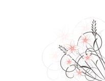 Weinlese-Blumenhintergrund Lizenzfreies Stockfoto