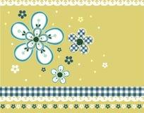 Weinlese-Blumenmuster Lizenzfreies Stockbild
