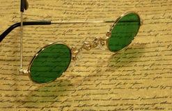 Weinlese-Brillen stockbilder