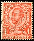 Weinlese-britische Briefmarke Stockbilder