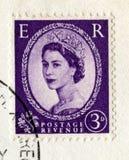 Weinlese-britische Briefmarke ab 1967 Lizenzfreies Stockfoto
