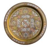 Weinlese-Bronzeplatte Stockfoto