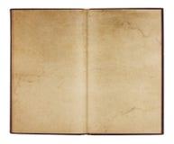 Weinlese-Broschüre mit befleckten Seiten Stockbilder
