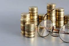 Weinlese-Buchhaltung Stockfotos