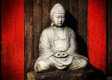Weinlese Buddha Stockbild