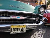 Weinlese Chevrolet an einer Oldtimer-Show, Erde Angel License Plate, USA Stockbild