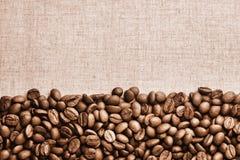 Weinlese Coffe-Bohnen-Hintergrund Lizenzfreies Stockbild