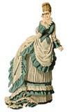 Weinlese-Dame mit Binokeln stock abbildung