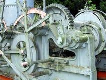 Weinlese Dampf-Angeschaltener Bauholz-Abgassammler lizenzfreies stockbild