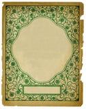Weinlese-dekorative Hintergrund-Auslegung auf altem Papier Stockfotografie