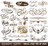 Weinlese-dekorative kalligraphische Elemente Lizenzfreie Stockfotografie