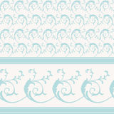 Weinlese dekoratives scrollwork Muster Stockfotos