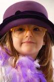 Weinlese des kleinen Mädchens Stockfotos