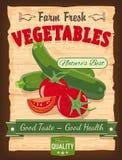 Weinlese-Design-Gemüse-Plakat Stockfotos