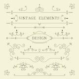 Weinlese-Design, Grenzen, Retro- Elemente, Rahmen, Stockfoto