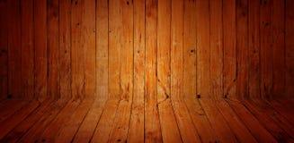 Weinlese die braune alte hölzerne Wand und der Boden masern mit Knoten Stockfotos