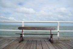 Weinlese, die Pier schaut lizenzfreie stockfotografie