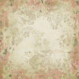 Weinlese-Digital-Papierhintergrund-Beschaffenheit - schäbiges Chic beunruhigtes Rosen-Muster stock abbildung
