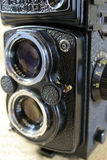 Weinlese-Doppellinsen-Kamera Stockfotografie