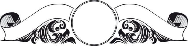 Weinlese-doppelte Fahne Stockbild