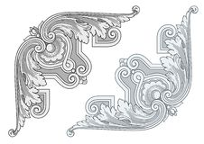Weinlese-Eckgestaltungselemente Lizenzfreie Stockbilder