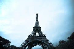 Weinlese-Eiffelturm Stockfotos