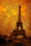 Weinlese-Eiffelturm Lizenzfreies Stockfoto
