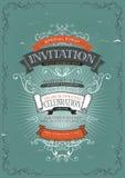Weinlese-Einladungs-Plakat-Hintergrund Lizenzfreie Stockbilder