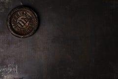 Weinlese-Eisengewicht des Pfund 1lb Stockfoto