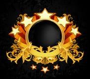 Weinlese-Emblem stock abbildung